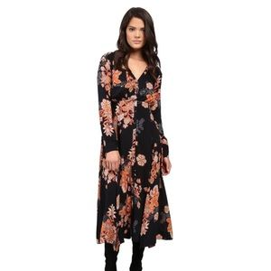 Free People Maxi Dress Floral/Paisley